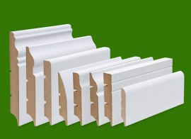 Skirting boards white